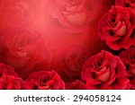 Stock photo red rose background 294058124
