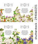 invitations with floral... | Shutterstock .eps vector #294060251