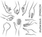 lady hands illustration | Shutterstock . vector #29406154