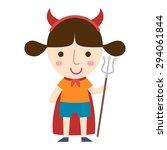illustration of halloween devil ... | Shutterstock .eps vector #294061844