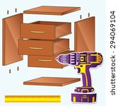 pack furniture assembly  | Shutterstock .eps vector #294069104