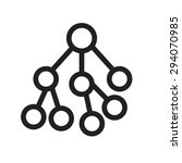 nodes  network  connected ... | Shutterstock .eps vector #294070985