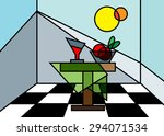 abstract still life  a table... | Shutterstock .eps vector #294071534