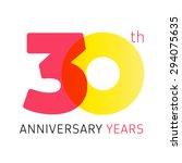 30 years old celebrating...   Shutterstock .eps vector #294075635
