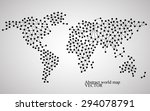 abstract world map. molecule...   Shutterstock .eps vector #294078791