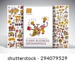 funny business creative info... | Shutterstock .eps vector #294079529