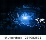 stock market chart   | Shutterstock . vector #294083531