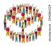 symbol peace crowd happy. the... | Shutterstock .eps vector #294084329