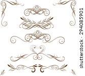 vector set of calligraphic... | Shutterstock .eps vector #294085901