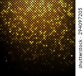 Shining Golden Disco Mosaic...