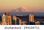 beautiful seattle in the... | Shutterstock . vector #294104711