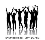 young dancing people | Shutterstock .eps vector #29410753