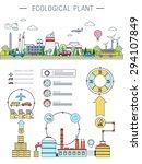 flat line infographic plant... | Shutterstock .eps vector #294107849