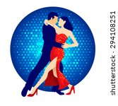 illustration of tango dancers ... | Shutterstock .eps vector #294108251