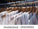 white and gray tone clothes... | Shutterstock . vector #294109001