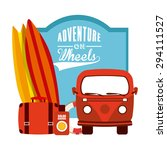 adventure on wheels design ... | Shutterstock .eps vector #294111527