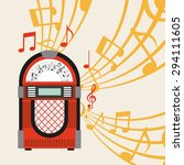 Jukebox Poster Design  Vector...