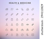 health and medicine line icons... | Shutterstock .eps vector #294112829