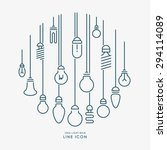 creative idea light bulb line... | Shutterstock .eps vector #294114089