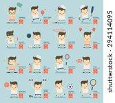 16 sportsman activities and... | Shutterstock .eps vector #294114095