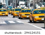 yellow taxi in new york | Shutterstock . vector #294124151