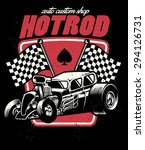 hot rod auto custom shop badge | Shutterstock .eps vector #294126731
