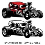 modified classic car | Shutterstock .eps vector #294127061
