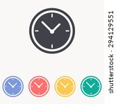 clock icon | Shutterstock .eps vector #294129551