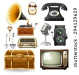 different kind of objects in... | Shutterstock .eps vector #294129629
