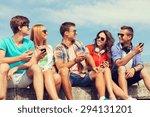 friendship  summer  technology... | Shutterstock . vector #294131201