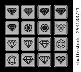 gem icon set | Shutterstock .eps vector #294133721