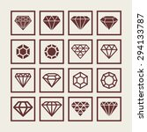gem icon set | Shutterstock .eps vector #294133787