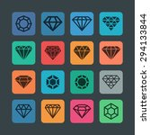 diamond stone icon set | Shutterstock .eps vector #294133844