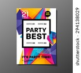 party flyer template. vector... | Shutterstock .eps vector #294138029
