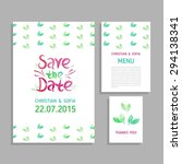 vector set of invitation cards... | Shutterstock .eps vector #294138341