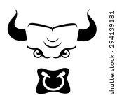 bull icon | Shutterstock .eps vector #294139181