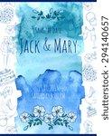 wedding watercolor vector...   Shutterstock .eps vector #294140657