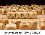 audit word written on wood block | Shutterstock . vector #294142535