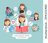 education thinking conceptual.... | Shutterstock .eps vector #294151985