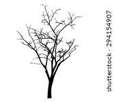vector black silhouette of a... | Shutterstock .eps vector #294154907