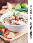 coconut milk with chicken.... | Shutterstock . vector #294156341