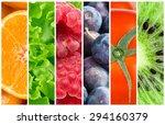 healthy food background.... | Shutterstock . vector #294160379