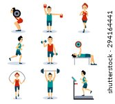 sport and leisure people... | Shutterstock .eps vector #294164441