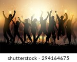 silhouettes of a group of... | Shutterstock .eps vector #294164675
