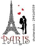 paris is the city of love.  | Shutterstock .eps vector #294169559