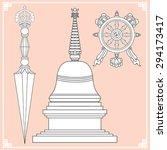 buddhist symbols. symbols... | Shutterstock .eps vector #294173417
