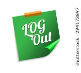 log out green sticky notes...   Shutterstock .eps vector #294173897
