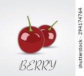 berry cherry vector logo design | Shutterstock .eps vector #294174764