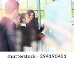 chief gathering his managers... | Shutterstock . vector #294190421