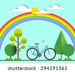 flat illustration of blue... | Shutterstock .eps vector #294191561